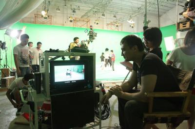 directing on green screen